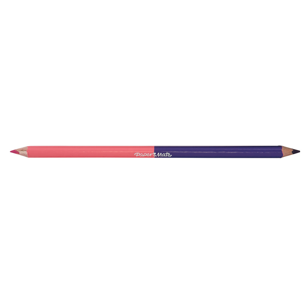 Paper Mate Hot Pink and Purple Colored Pencil Dual Ended  Paper Mate Pencils