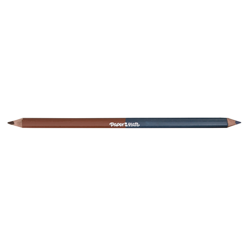 Paper Mate Sepia and Blue Grey Colored Pencil Dual Ended