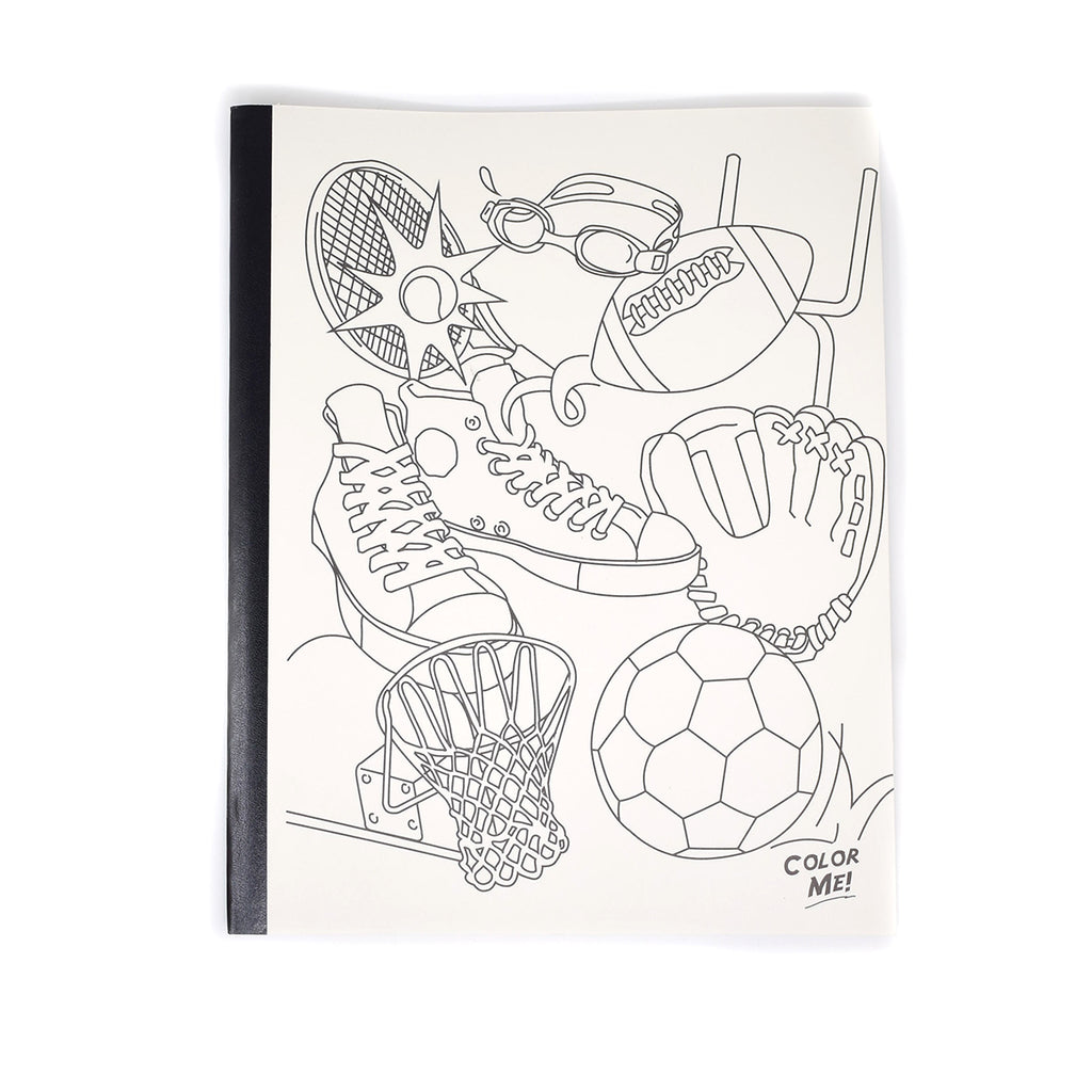 Cute Composition Notebooks, wide Ruled, 50 Page 10 x 8 Color Yourself Sport Theme Soft Cover  PensAndPencils.Net Composition Notebook