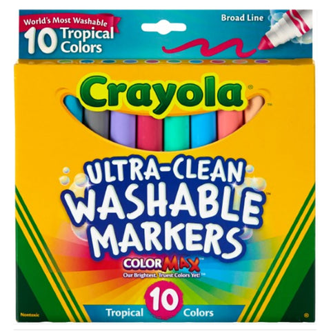 Crayola Tropical Colors Washable Markers Pack of 10  Crayola Markers