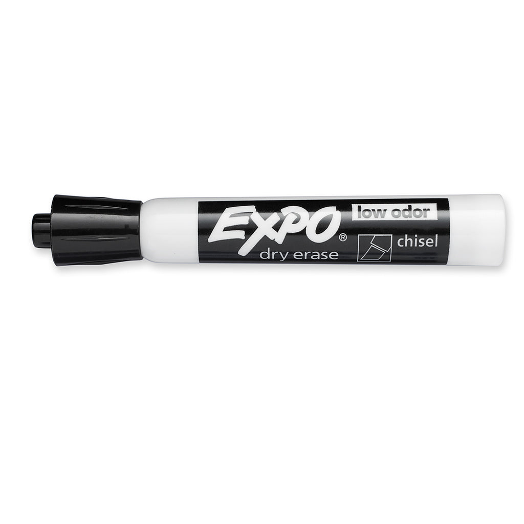 Black Dry Erase Markers, Expo, Low Odor, Chisel Tip, Pack of 2