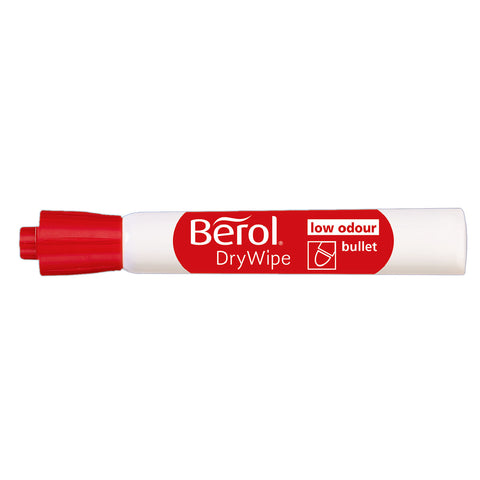 Berol Dry Erase Markers Red Bullet Tip  Berol Dry Erase Markers