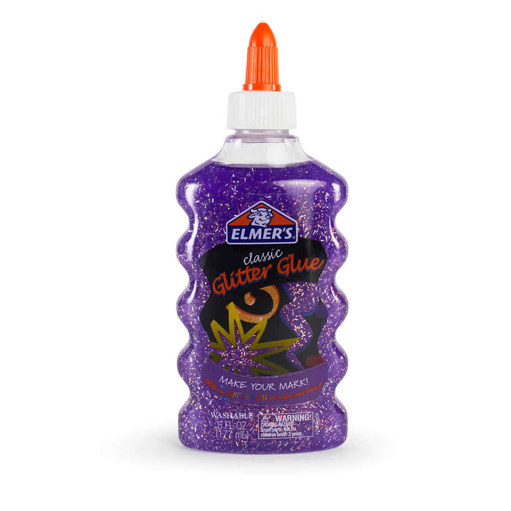 Elmer's Purple Glitter Glue 6 Ounces  Elmer's Glue