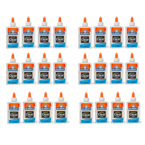 Elmer's Washable Clear Glue Bulk Value Pack, 24 5 Ounce Bottles  Elmer's Glue