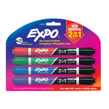 Expo 2 in 1 Assorted Dry Erase Markers Chisel Tip  Expo Dry Erase Markers