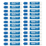 Expo Dry Erase Blue Low Odor Chisel Tip Marker - Bulk Pack of 24  Expo Dry Erase Markers
