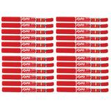 Expo Dry Erase Red, Low Odor, Ink Indicator Fine Tip Marker Bulk Pack of 24  Expo Dry Erase Markers