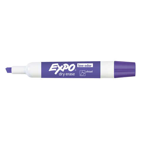 Expo Dry Erase Purple Low Odor Chisel Tip Marker  Expo Dry Erase Markers
