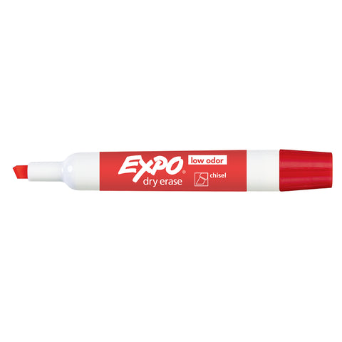 Expo Dry Erase Red Low Odor Chisel Tip Marker  Expo Dry Erase Markers