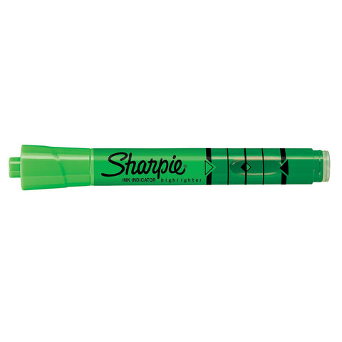 Sharpie Green Highlighter Chisel Tip with Ink Indicator Tank  Sharpie Highlighter
