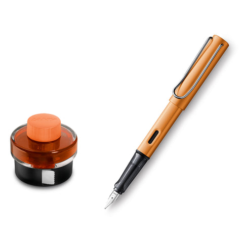 Lamy Al Star Bronze Fountain Pen, Fine - Special Edition + Lamy T52 Bronze Ink Bottle and Converter  Lamy Fountain Pens