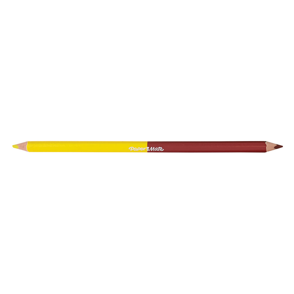 Paper Mate Lemon Yellow and Brick Red Colored Pencil Dual Ended  Paper Mate Pencils