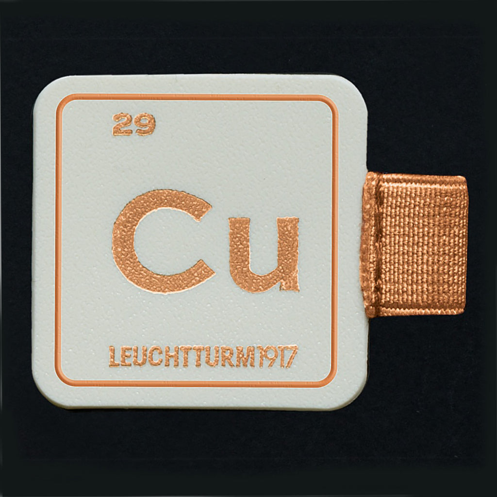 Leuchtturm1917 Pen Loop Copper With Chemical Element Symbol Cu - Atomic Number 29  Leuchtturm1917 Pen Loop