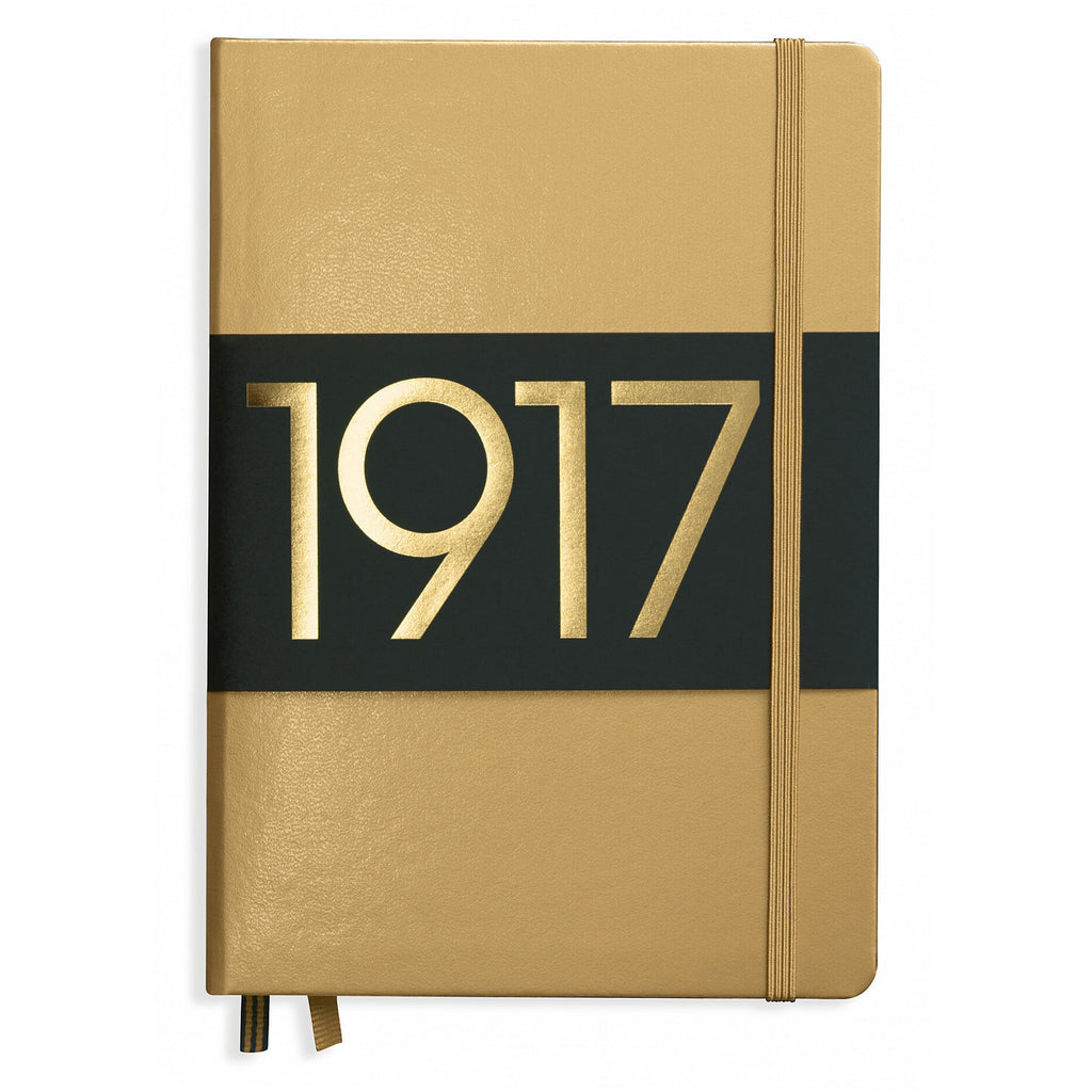 Leuchtturm 1917 Dotted Notebook A5 Medium Gold 100 Year Anniversary Edition