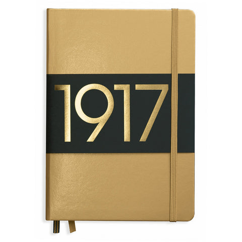 Leuchtturm 1917 Dotted Notebook A5 Medium Gold 100 Year Anniversary Edition Free Shipping