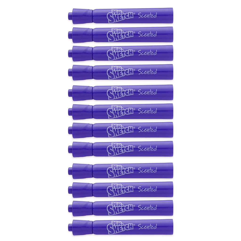 Mr. Sketch Grape Scented Markers Chisel Tip Purple Color, Dozen  1919007  Mr Sketch Scented Markers