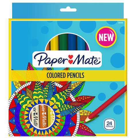Paper Mate Colored Pencils Assorted Colors Pack of 24  Paper Mate Pencils