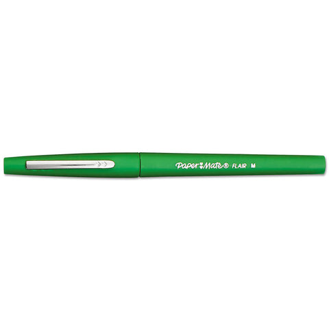 Paper Mate Flair Green Point Guard Felt Tip Pen Medium  Paper Mate Felt Tip Pen
