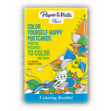 Postcard Coloring Book For Adults By Paper Mate, 16 Positive Messages Postcards