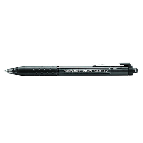 Paper Mate InkJoy Black Ballpoint Pen 300 RT Retractable Medium Point
