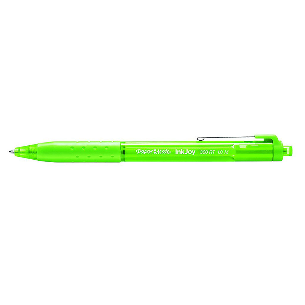 Paper Mate InkJoy Lime Ballpoint Pen 300 RT Retractable Medium Point