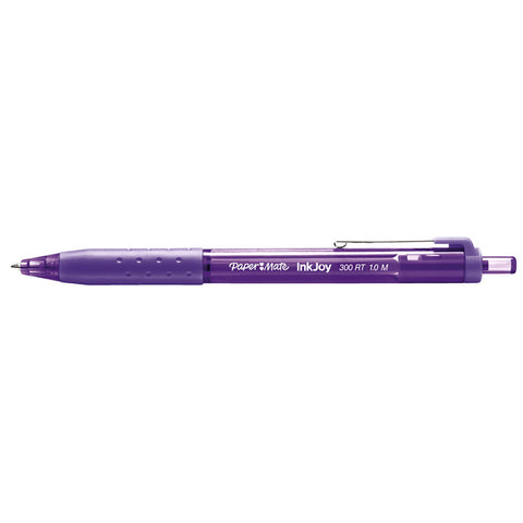 Paper Mate InkJoy Purple Ballpoint Pen 300 RT Retractable Medium Point