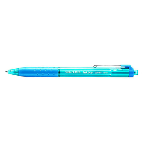 Paper Mate InkJoy Turquoise Ballpoint Pen 300 RT Retractable Medium Point