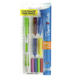 Paper Mate Clearpoint 0.9mm Mechanical Pencil With Side Click, Twist Up Eraser + 4 Eraser Refills Lime Green Paper Mate Pencil