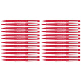 Paper Mate Flair Red Felt Tip Pens Point Guard, Bulk Pack of 24  Paper Mate Felt Tip Pen