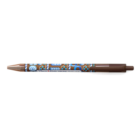 Paper Mate Inkjoy Candy Pop 100 RT Mocha Brown Ballpoint Pen Medium Retractable Pen Mocha Brown Ink  Paper Mate Ballpoint Pen