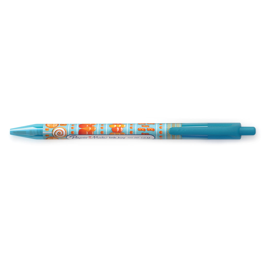 Paper Mate Inkjoy Candy Pop 100 RT Turquoise Ballpoint Pen Medium Retractable Pen Turquoise Ink
