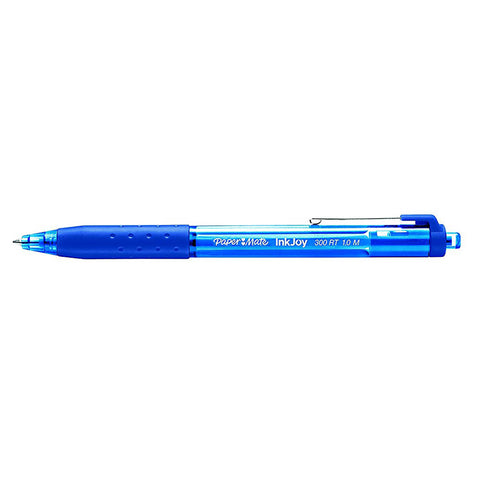 Paper Mate InkJoy Blue Ballpoint Pen 300 RT Retractable Medium Point