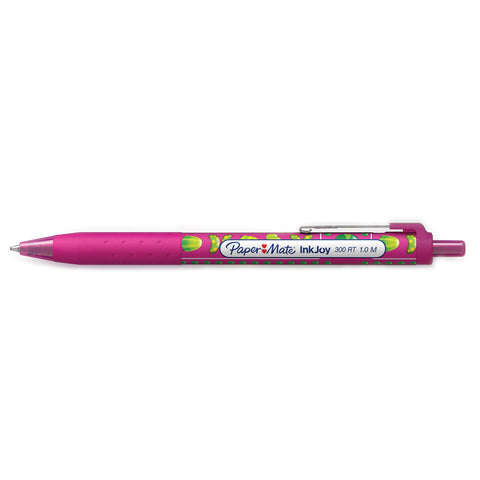 Paper Mate Inkjoy Candy Pop Magenta Pink 300 RT Retractable Ballpoint Pen Medium 1.0 MM ( Magenta Pink Ink)  Paper Mate Ballpoint Pen