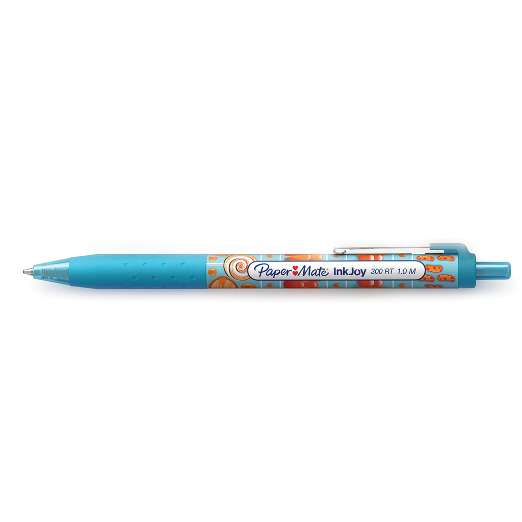 Paper Mate Inkjoy Candy Pop Turquoise 300 RT Retractable Ballpoint Pen Medium 1.0 MM (Turquoise Ink)  Paper Mate Ballpoint Pen