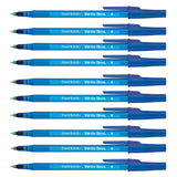 Paper Mate Write Bros Blue Pens, Pack of 10 Blue Ink Pens, Medium Point  Paper Mate Ballpoint Pen