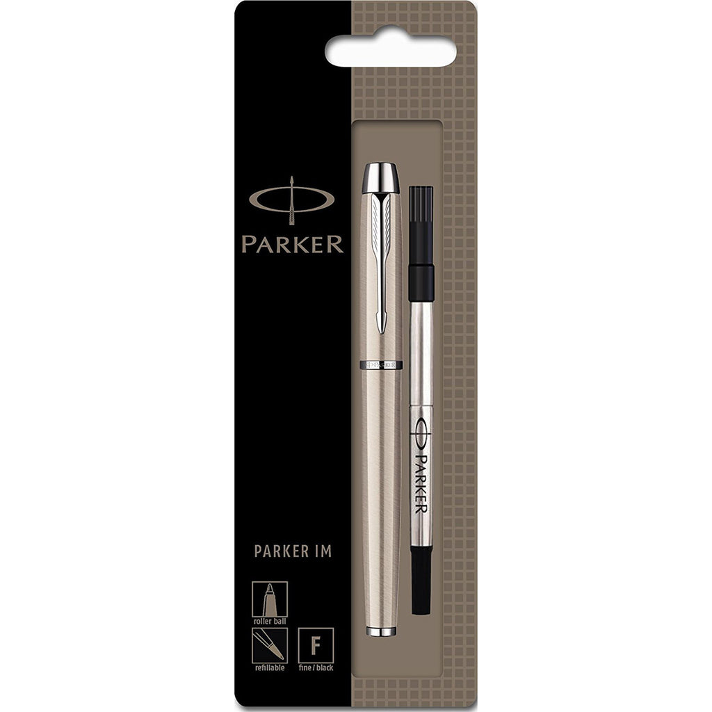 Parker IM Brushed Stainless Steel Rollerball Pen Black Ink