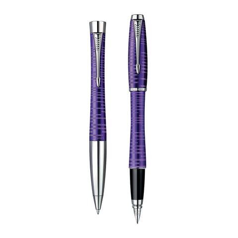 Parker Urban Amethyst Pearl Fountain Pen and Ballpoint Set  Parker Fountain Pens