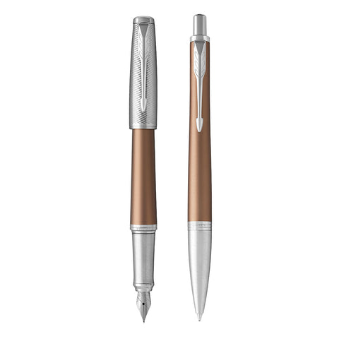 Parker Urban Premium Bronze Orange Fountain Pen and Ballpoint Pen Gift Set  Parker Fountain Pens