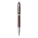 Parker IM Premium Brown Chrome Trim Fountain Pen Fine in Parker Gift Box 1931677  Parker Fountain Pens