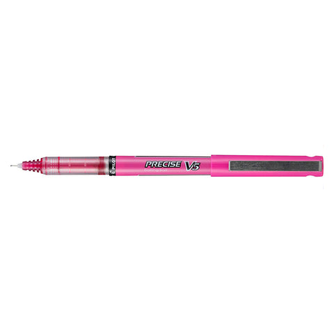Pilot Precise V5 Pink Extra Fine Rolling Ball Pen 0.5mm