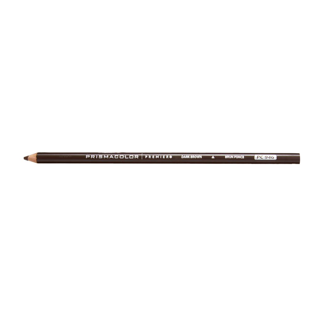 Prismacolor Premier Soft Core Colored Pencil, Dark Brown  PC 946