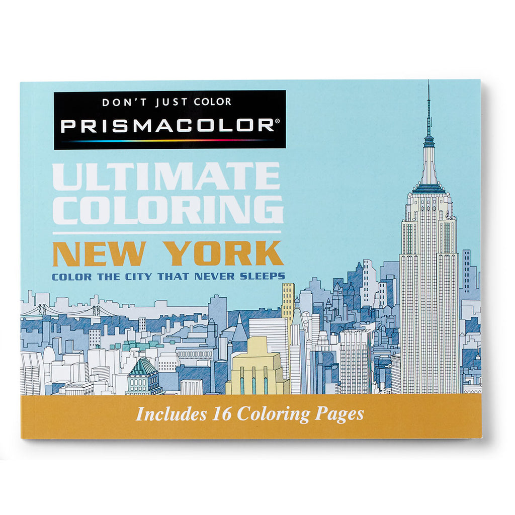 Prismacolor New York Adult Coloring Book, 16 Pages  Prismacolor Pencils