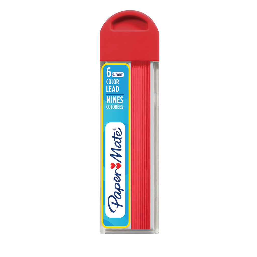 Papermate Red Lead For Mechanical Pencil 0.7mm (Tube of 6 Leads)  Paper Mate Pencil