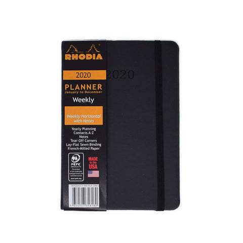 Rhodia 2020 Weekly Planner Black 4 x 6 Small  Rhodia Planner