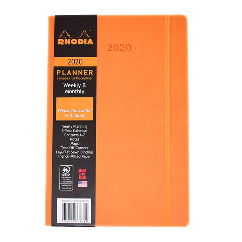Rhodia 2020 Weekly Planner Orange 6 X 9 Large  Rhodia Planner