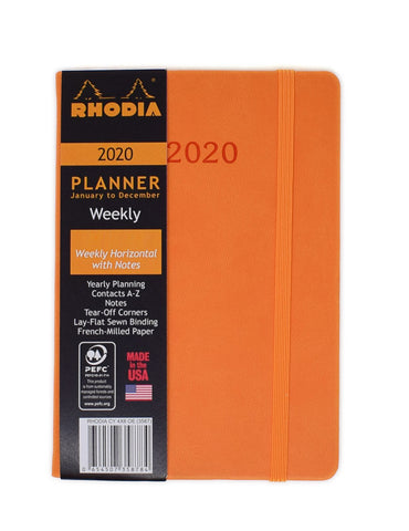 Rhodia 2020 Weekly Planner Orange 4 x 6 Small  Rhodia Planner