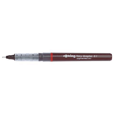 Rotring Tikky Graphic Fineliner Pen 0.1MM, Black Ink