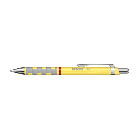 Rotring Tikky III Yellow Ergonomic Comfort Grip Ballpoint Pen Blue Ink