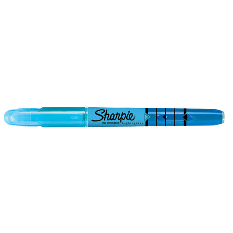 Sharpie Blue Highlighter Narrow Chisel Tip with Ink Indicator