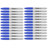 Sharpie Blue Markers, Fine Point, Bulk Pack of 24